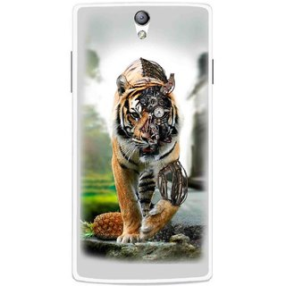 Snooky Printed Mechanical Lion Mobile Back Cover For Oppo Find 5 Mini - Multicolour