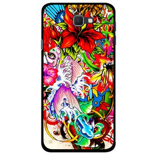 Snooky Printed Horny Flowers Mobile Back Cover For Samsung Galaxy J5 Prime - Multicolour