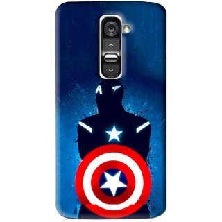 Snooky Printed America Sheild Mobile Back Cover For Lg G2 - Blue