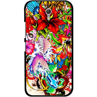 Snooky Printed Horny Flowers Mobile Back Cover For Lenovo Zuk Z1 - Multicolour