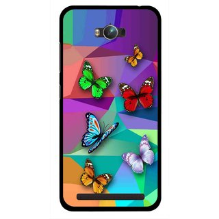 Snooky Printed Trendy Buterfly Mobile Back Cover For Asus Zenfone Max - Multicolour
