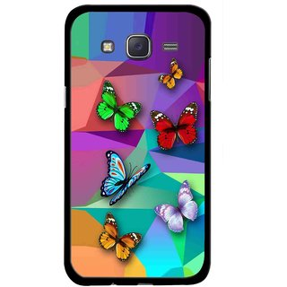 Snooky Printed Trendy Buterfly Mobile Back Cover For Samsung Galaxy J5 - Multicolour