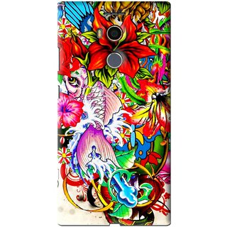 Snooky Printed Horny Flowers Mobile Back Cover For Gionee Elife E8 - Multi