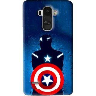 Snooky Printed America Sheild Mobile Back Cover For Lg G4 Stylus - Blue