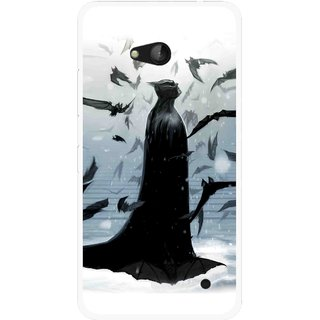 Snooky Printed Black Bats Mobile Back Cover For Nokia Lumia 640 - Multicolour