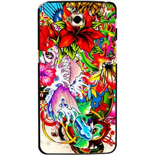 Snooky Printed Horny Flowers Mobile Back Cover For Lg G Pro Lite - Multicolour