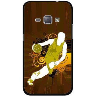 Snooky Printed Chamoins wins Mobile Back Cover For Samsung Galaxy J1 - Multicolour