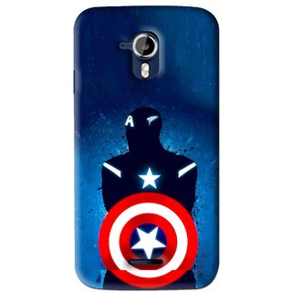Snooky Printed America Sheild Mobile Back Cover For Micromax Canvas Magnus A117 - Blue