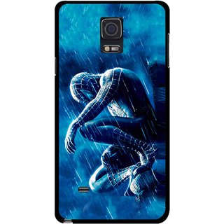 Snooky Printed Blue Hero Mobile Back Cover For Samsung Galaxy Note 4 - Multicolour