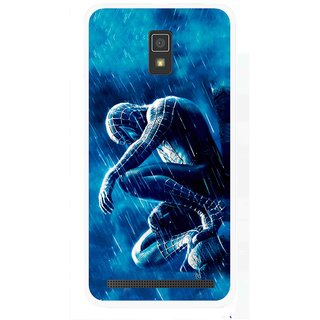 Snooky Printed Blue Hero Mobile Back Cover For Lenovo A6600 - Multicolour