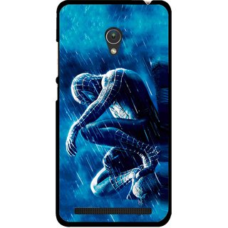 Snooky Printed Blue Hero Mobile Back Cover For Asus Zenfone 5 - Multicolour
