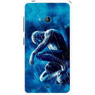 Snooky Printed Blue Hero Mobile Back Cover For Nokia Lumia 540 - Multicolour