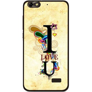 Snooky Printed Love You Mobile Back Cover For Huawei Honor 4C - Multi