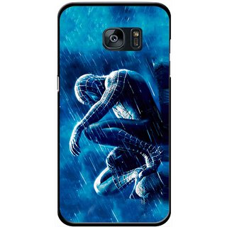 Snooky Printed Blue Hero Mobile Back Cover For Samsung Galaxy S7 Edge - Multicolour