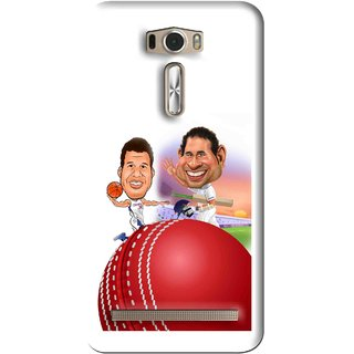 Snooky Printed Play Cricket Mobile Back Cover For Asus Zenfone 2 Laser ZE601KL - White