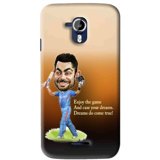 Snooky Printed True Dream Mobile Back Cover For Micromax Canvas Magnus A117 - Brown