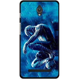 Snooky Printed Blue Hero Mobile Back Cover For Asus Zenfone C - Multicolour