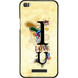 Snooky Printed Love You Mobile Back Cover For Lava Iris X8 - Multi