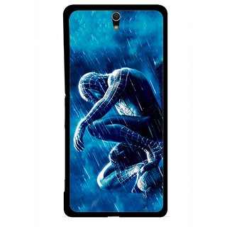 Snooky Printed Blue Hero Mobile Back Cover For Sony Xperia C5 - Multicolour