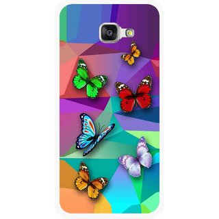 Snooky Printed Trendy Buterfly Mobile Back Cover For Samsung Galaxy A3 (2016) - Multicolour