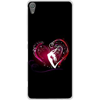 Snooky Printed Lady Heart Mobile Back Cover For Sony Xperia XA1 - Multi