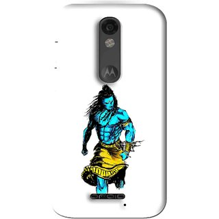 Snooky Printed Bhole Nath Mobile Back Cover For Moto X Force - White