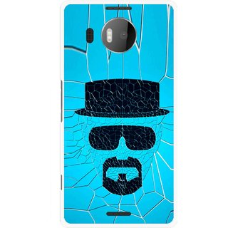 Snooky Printed Beard Man Mobile Back Cover For Microsoft Lumia 950 XL - Multicolour