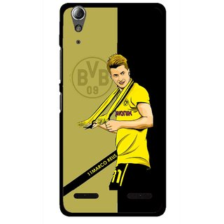 Snooky Printed Sports Player Mobile Back Cover For Lenovo A6000 - Multi