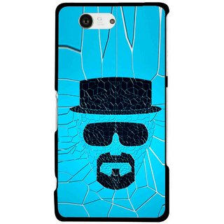 Snooky Printed Beard Man Mobile Back Cover For Sony Xperia Z3 Compact - Multicolour