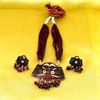 necklace rajasthani hand made with adjustable dori