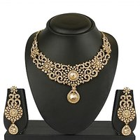 VK Jewels Magnificent Gold Plated Necklace with Earrings