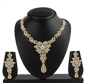 VK Jewels Simple looking Gold Plated Necklace with Earrings