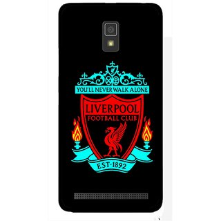 Snooky Printed Football Club Mobile Back Cover For Lenovo A6600 - Multicolour