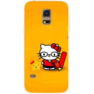 Snooky Printed Kitty Study Mobile Back Cover For Samsung Galaxy S5 Mini - Multicolour