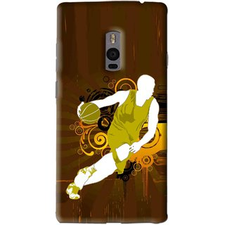 Snooky Printed Chamoins wins Mobile Back Cover For OnePlus 2 - Brown