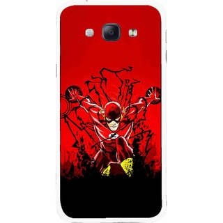 Snooky Printed Super Hero Mobile Back Cover For Samsung Galaxy A8 - Multicolour
