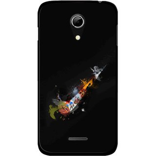 Snooky Printed All is Right Mobile Back Cover For Micromax A114 - Multicolour