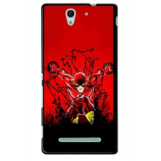 Snooky Printed Super Hero Mobile Back Cover For Sony Xperia C3 - Multicolour