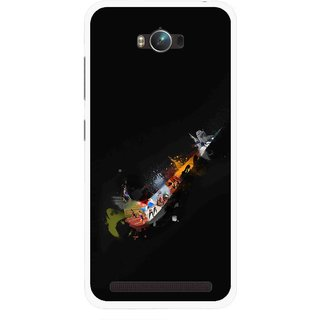 Snooky Printed All is Right Mobile Back Cover For Asus Zenfone Max - Multicolour