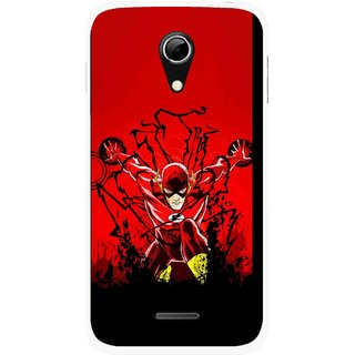 Snooky Printed Super Hero Mobile Back Cover For Micromax A114 - Multicolour