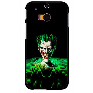 Snooky Printed Daring Joker Mobile Back Cover For HTC One M8 - Multicolour