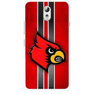 Snooky Printed Red Eagle Mobile Back Cover For Lenovo Vibe P1M - Multicolour