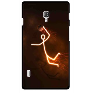 Snooky Printed Burning Man Mobile Back Cover For Lg Optimus L7 II P715 - Multicolour