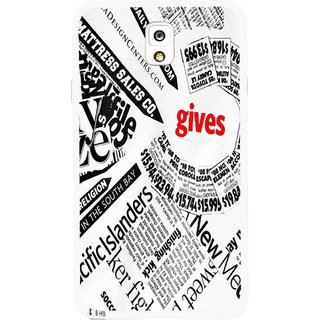 Snooky Printed Newspaper Mobile Back Cover For Samsung Galaxy Note 3 - Multicolour