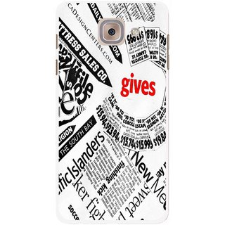 Snooky Printed Newspaper Mobile Back Cover For Samsung Galaxy J7 Max - Multicolour