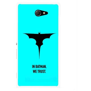 Snooky Printed We Trust Mobile Back Cover For Sony Xperia M2 - Multicolour