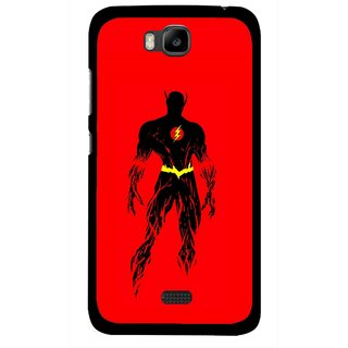 Snooky Printed Electric Man Mobile Back Cover For Huawei Honor Bee - Multicolour