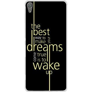 Snooky Printed Wake up for Dream Mobile Back Cover For Sony Xperia XA1 - Multi