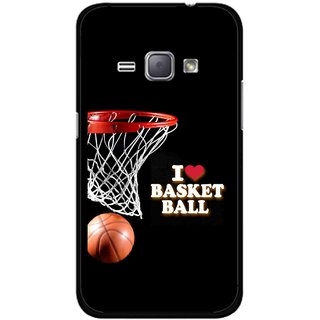 Snooky Printed Love Basket Ball Mobile Back Cover For Samsung Galaxy J1 - Multicolour