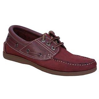 Woodland Men's Maroon Casual Shoe